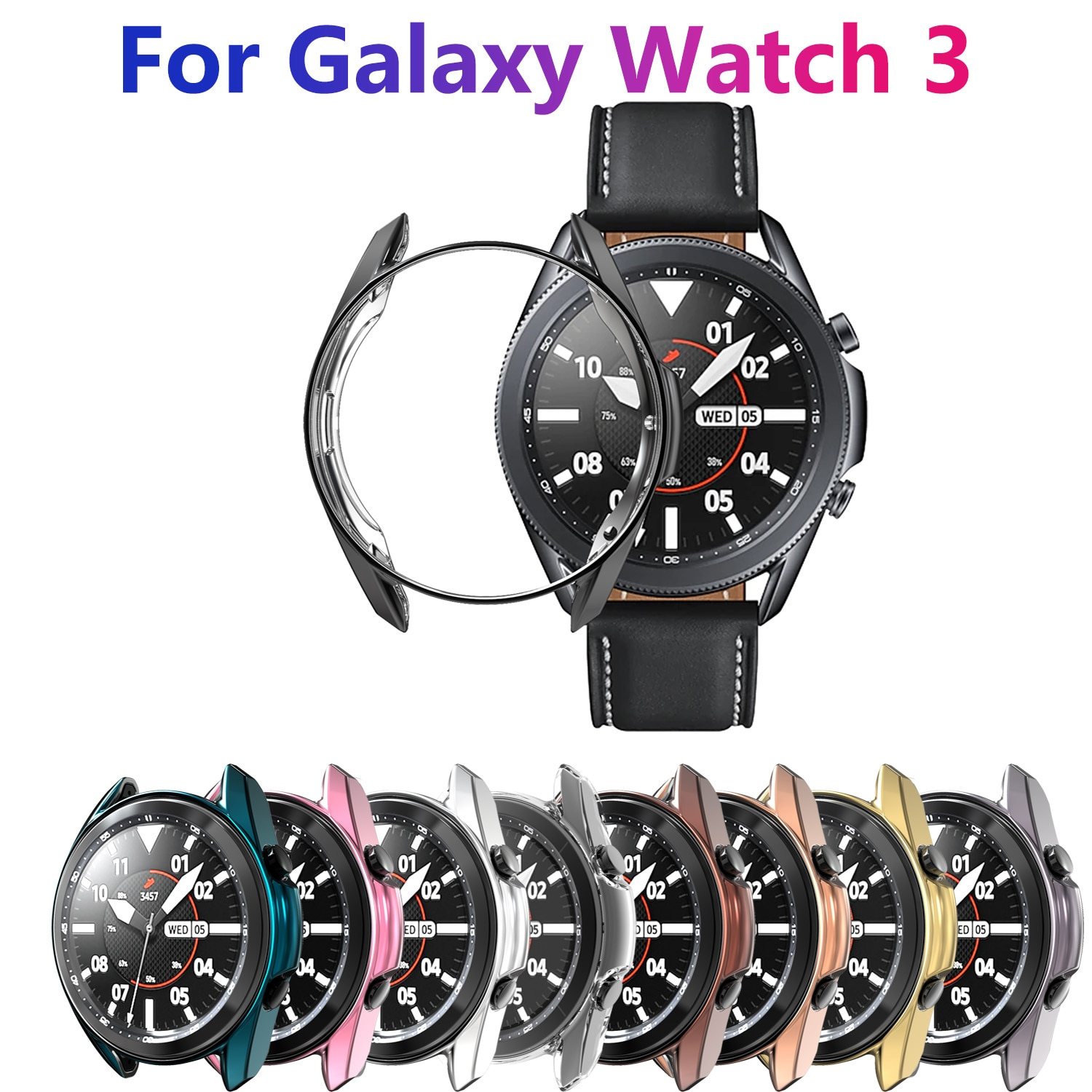 Protective Case For Samsung Galaxy Watch 3 41mm 45mm Smart Watches Cover TPU Frame Shell Protector S