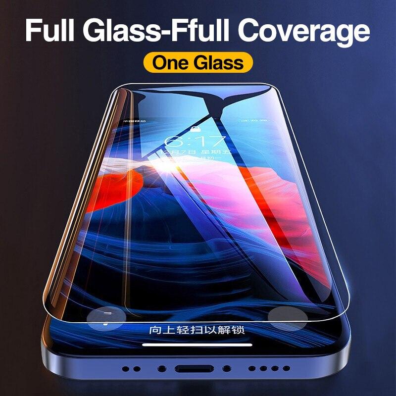 4 חתיכות של מלא-כיסוי מזג זכוכית מסך מגן עבור iPhone 6 7 8 בתוספת זכוכית סרט עבור iPhone 11 פרו X XR XS מקסימום 12 פרו מקסימום