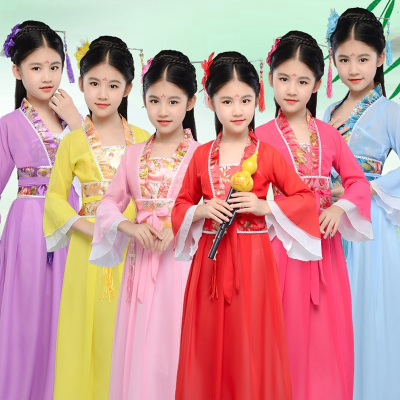 Girl costume Hanfu Chinese style ancient clothes princess costume role-playing stage performance clothing недорого