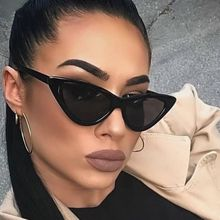 Women Vintage Cat Eye Sun Glasses Retro Fashion Sunglasses Women Triangular Sun Glasses Eyewear Ocul