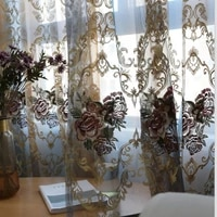 european stylecurtains for living dining room bedroom embroidery embroidery baywindow curtaintulle finished productcustomization