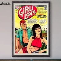v434 1967 girls love vintage classic movie print silk poster home deco wall art gift