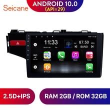 """Seicane 9 """"Android 10,0 Car Radio Unidad de navegación GPS reproductor estéreo para 2014, 2015, 2016, 2017 Honda FIT La izquierda SWC"""