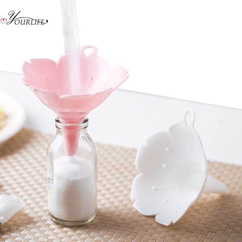 aliexpress.com - OYOURLIFE 2pcs/set Kitchen Cherry Blossom Style Funnels Home Olive Oil Condiments Liquid Powder Dispenser Kitchen Accessories