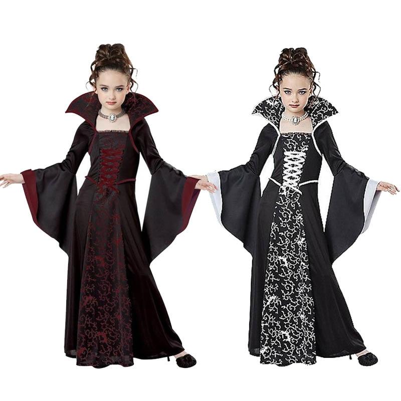Traje de Halloween Cosplay traje para niños niñas bruja vampiro Disfraz de...
