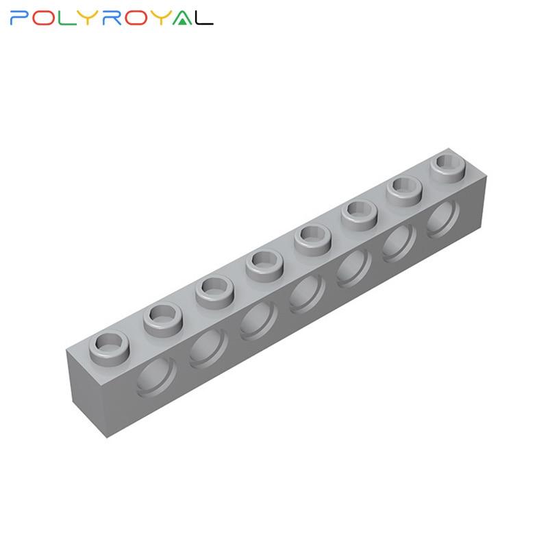 Klocki akcesoria 1x8 perforowana cegła 7 otworów 10 sztuk kompatybilny montuje cząstki Technic części Moc Toy prezent 3702