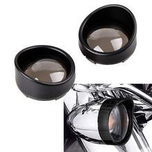 1 paire Chrome visière Style clignotant Bezels 4 couleurs lentille pour Harley Davidson moto accessoires