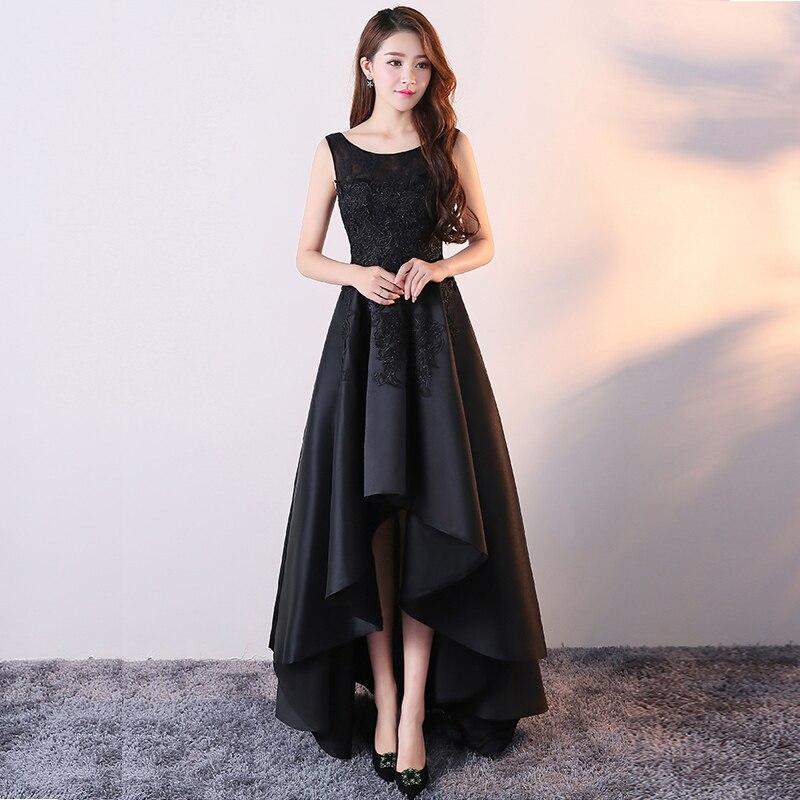 Vestido de noche mujer 2020 nuevo temperamento simple y elegante negro largo banquete noble dama anfitrión vestido