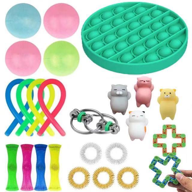23PCS Pack Fidget Sensory Toy Set Stress Relief Toys Autism Anxiety Relief Stress Pop Bubble Fidget Toys for Kids Adults enlarge
