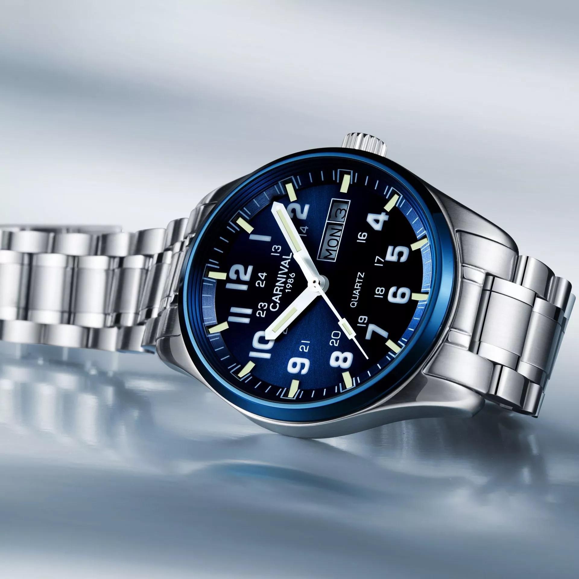 Carnival watches men Switzerland luxury brand moon phase automatic mechanical watch full steel multifunction waterproof 2020