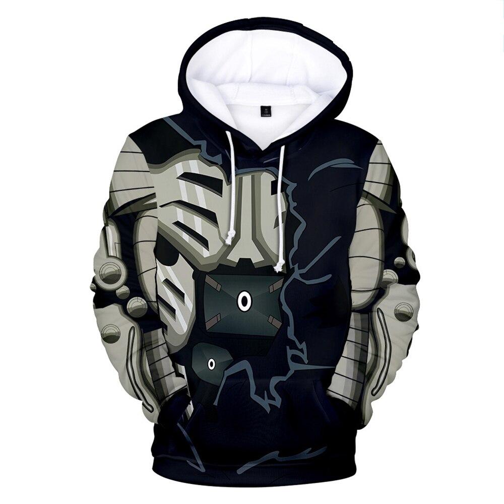 Smiling face 3 d men sweatshirt quilt sets anime saitama street hoodies long-sleeved casual sport hoodies happy