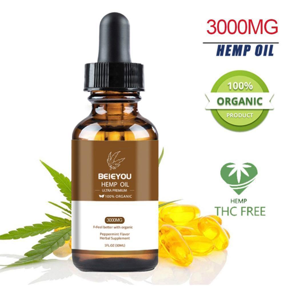 Aceites esenciales orgánicos puros naturales y cara Cram Cbd cuerpo cáñamo gotas de estrés aceite ansiedad ayuda a hierbas 2000MG aliviar el sueño S U1W5