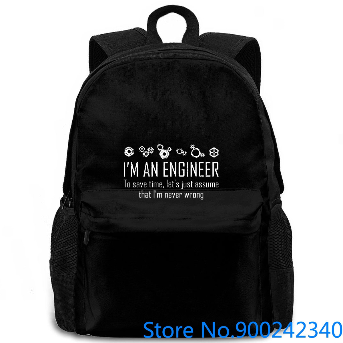 Soy un ingeniero para ahorrar tiempo, nunca se Wrong, mochila de cumpleaños de matemáticas para hombre y mujer, mochila para ordenador portátil, viaje, escuela, estudiante de adulto