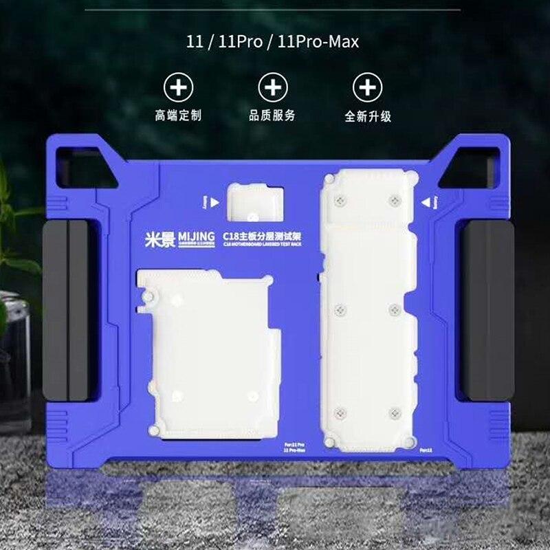 MiJing para iPhone X/XS Max/11/11 Pro MAX placa principal función de prueba accesorio placa lógica superior/inferior medio probador de capas