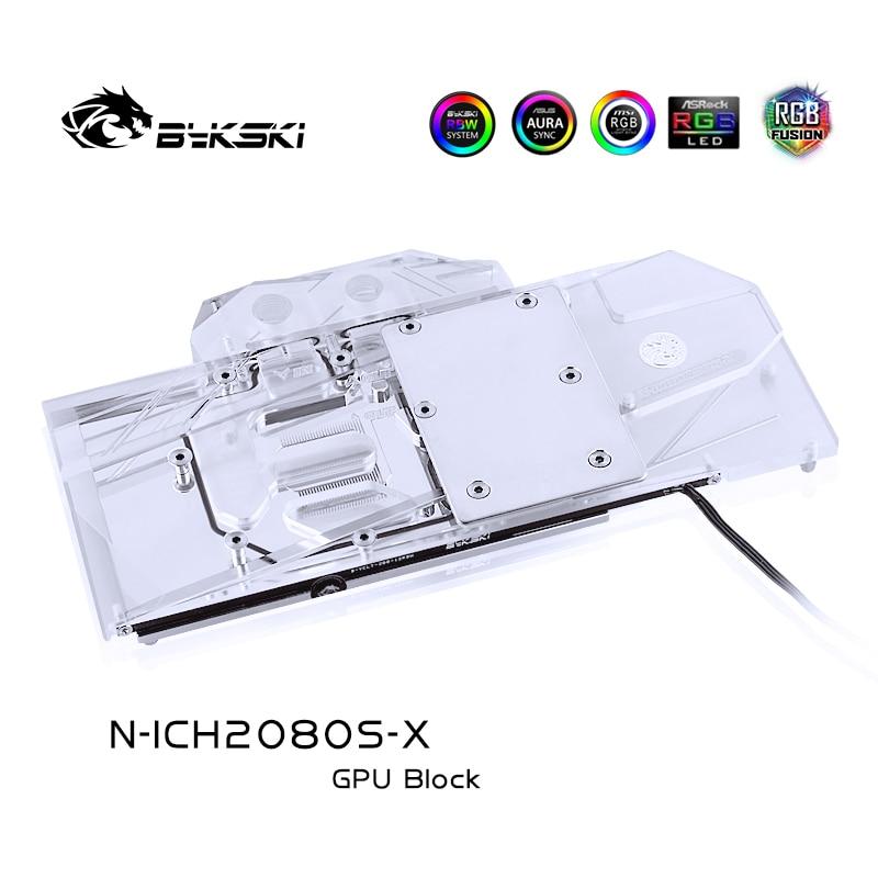 BYKSKI المياه كتلة استخدام ل inno3D غيفورسي RTX2080 سوبر/RTX2070 سوبر دعم A-RGB/RGB LED ضوء المبرد كتلة النحاس + Arylic