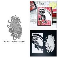 paper fan metal cutting dies for diy scrapbook album paper card decoration crafts embossing 2021 new dies