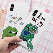 Pour redmi Note 7 Cas cool Motif drôle de grenouille pour TPU Xiaomi redmi 4A 4X 6 6A 7 7A 5 Plus S2 Pro K20 K30 Note 5 6 8 8T Case Pro