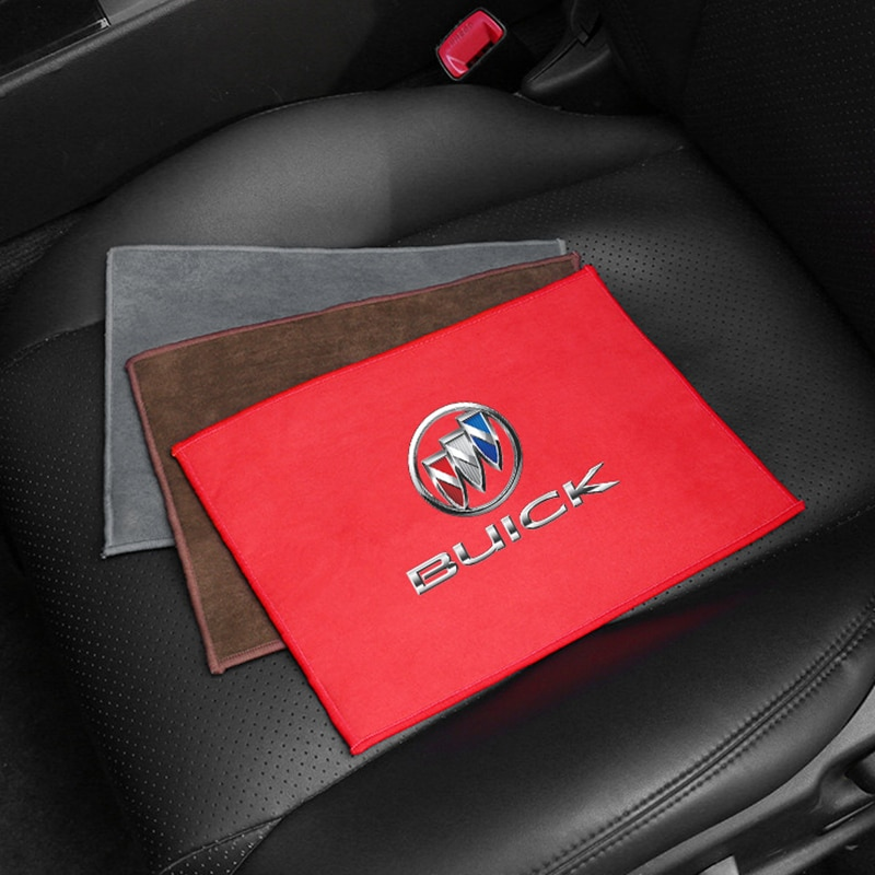 Для Buick авто очистной люк для окна Care сильной воды впитывающий коралловый флис Черная замша автомобиль Полотенца микрофибра тряпка для мыть...