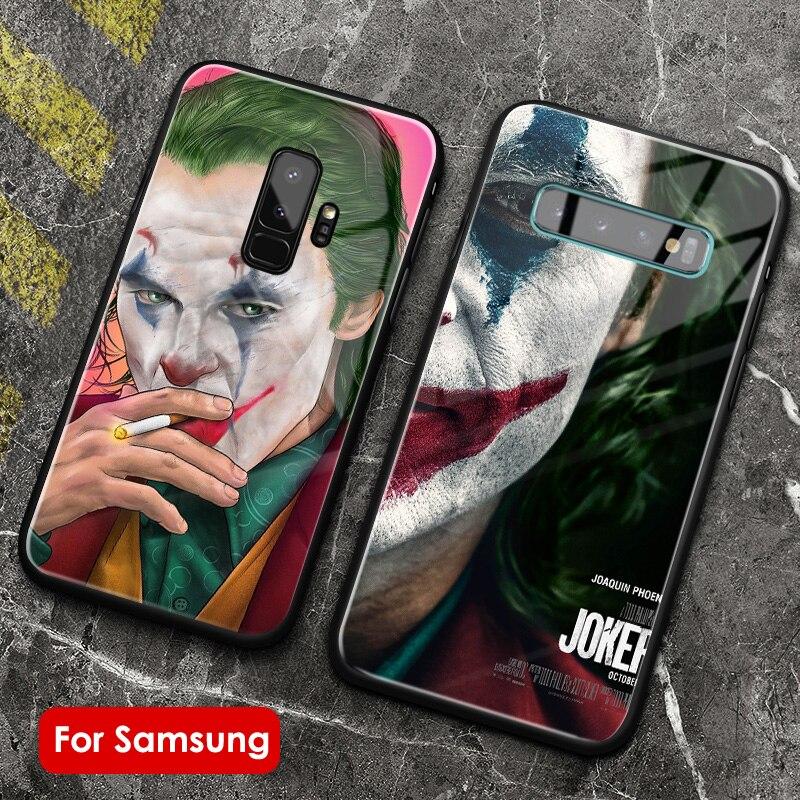 2019 пленка Joker Joaquin Phoenix, стеклянная чехол для телефона, силиконовый чехол для samsung galaxy s8 s9 s10 e S20 ultra plus note 8 9 10 PLUS