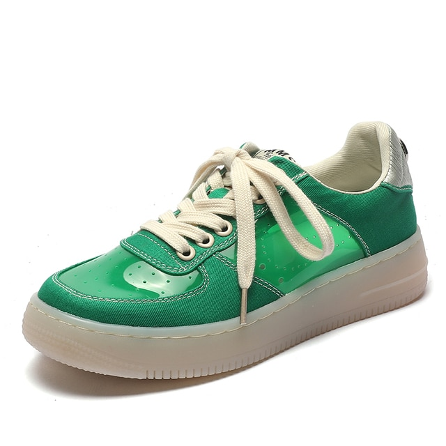 AIYUQI Sneakers Women 2021 Summer New Thick-soled Casual Student Board Shoes Women All-match Hollow Canvas Shoes Women 2