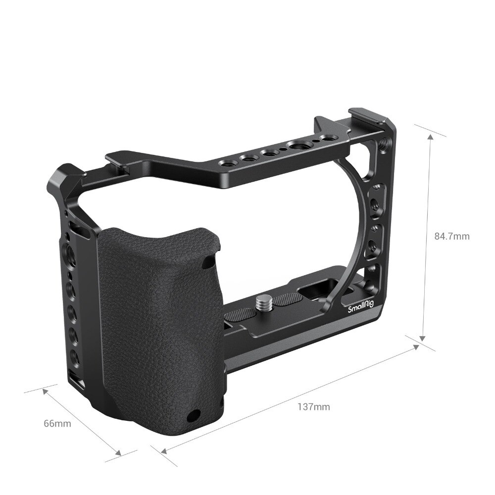 sony A6400 camera cage Smallrig Camera 3164 with Silicone Handle Grip compatibility with A6100 6300 6400 enlarge