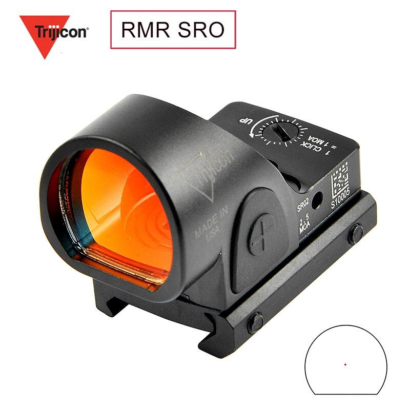 Mini Nieuwe Mini Rmr Sro Red Dot Sight Collimator Glock / Rifle Reflex Sight Scope Fit 20Mm Weaver Rail voor Hunting Rifle