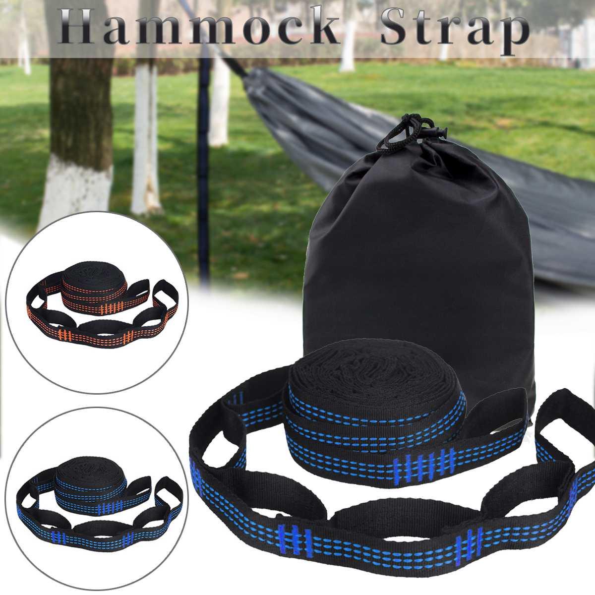 2Pcs Hammock Strap 200Cm Tree Hanging Spare Part Outdoor Aerial Yoga 600Kg Load Portable Outdoor Camping Hammock