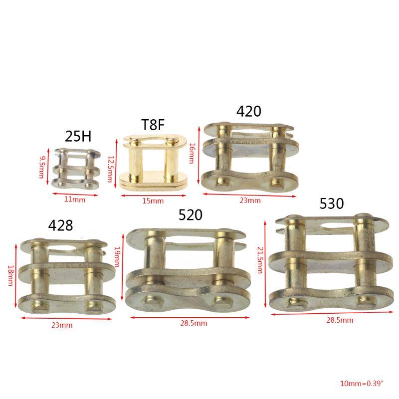 Cadena de motocicleta hebilla anillo enlace 25H # T8F #420 #428 #520 #530 # nuevo