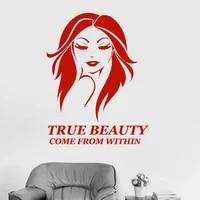 Autocollant mural en vinyle pour Salon de beaute  citation  decoration de maison  Salon  femme  Spa  moderne  mode W577