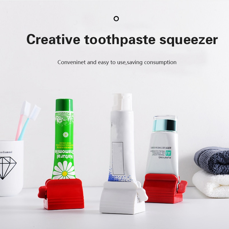 Bathroom Accessories Toothpaste Dispenser Multi-functional Tooth Paste Tube Squeezer Rolling Holder banheiro tandpasta knijper