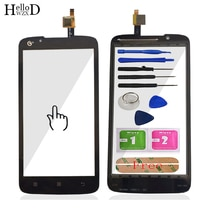 Touch Screen Front Glass For Lenovo A388 A388T Touch Screen Glass Digitizer Panel Sensor 5.0'' Mobil