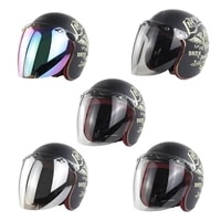 motorcycle helmet bubble visor 3 snap design open face helmet visor with pc lens gift for motorcycle enthusiasts