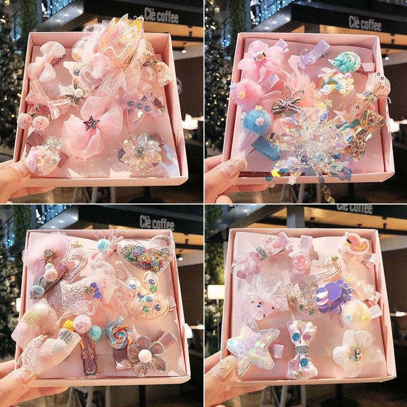 10 uds/1 caja de corona de princesa bonita para niños, pinzas para el pelo, pasadores de horquilla, accesorios para el cabello para niñas