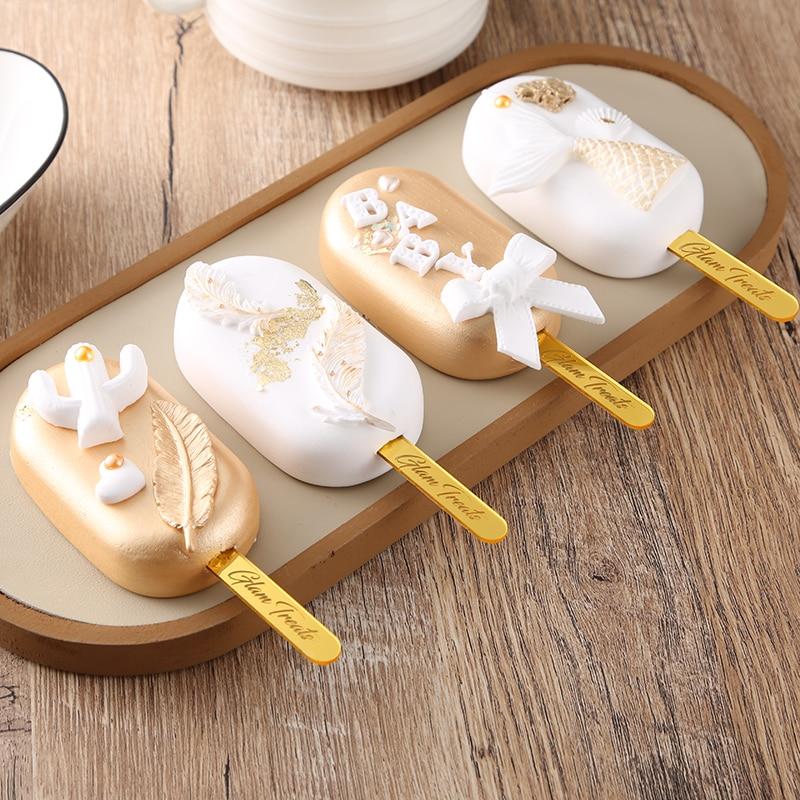 Personalized names Acrylic cakesicle Ice Cream sticks, Custom Popsicle Sticks,Birthday,Cumpleanos,Baby Shower ,Baking decoratio