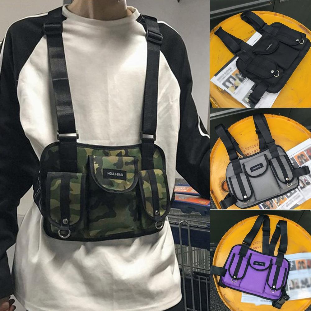 Moda 2019 Judi pecho Rig riñonera ropa informal estilo hip hop funcional táctico pecho bolsa cruzada hombro bolsos Kanye West a28