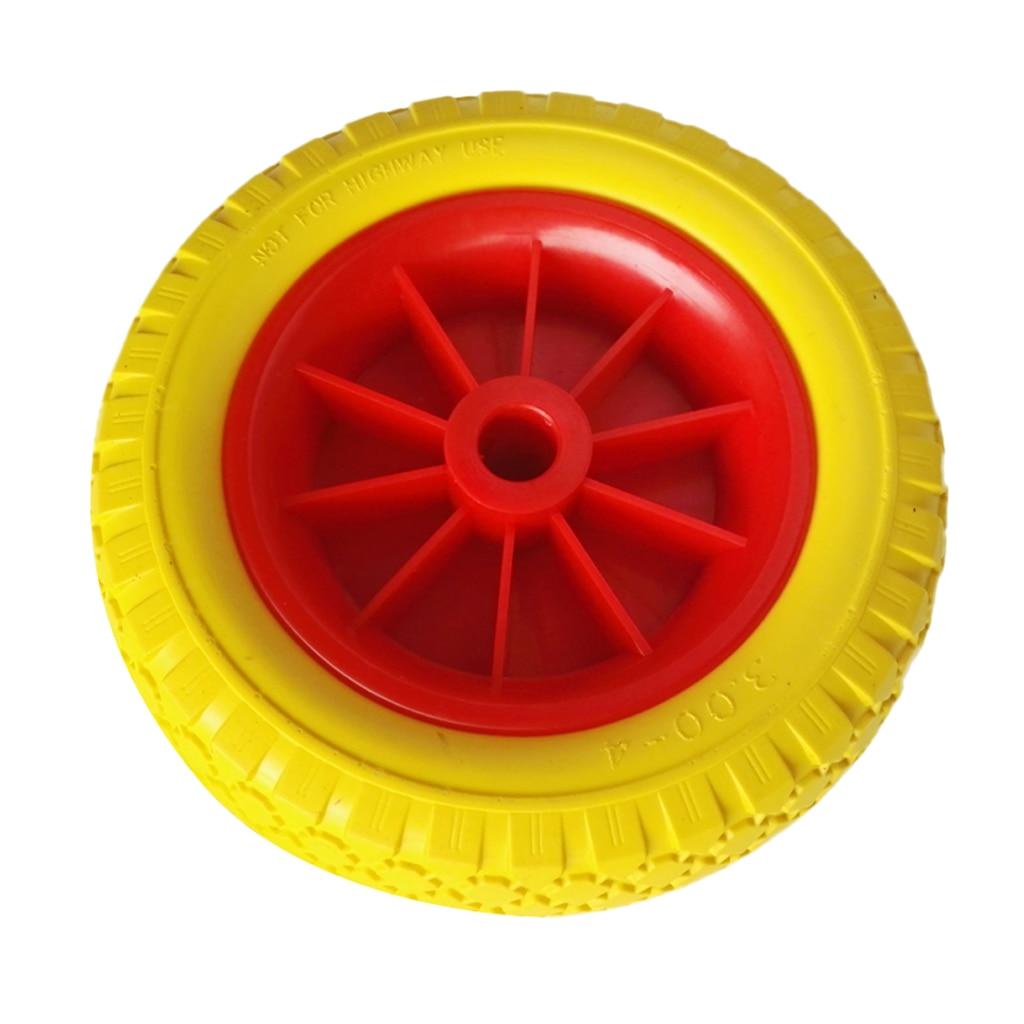 1 paar 25,4 cm 22,35mm Durable Pannensichere Gummi Reifen auf Rot Rad für Kajak Trolley Warenkorb Boot anhänger