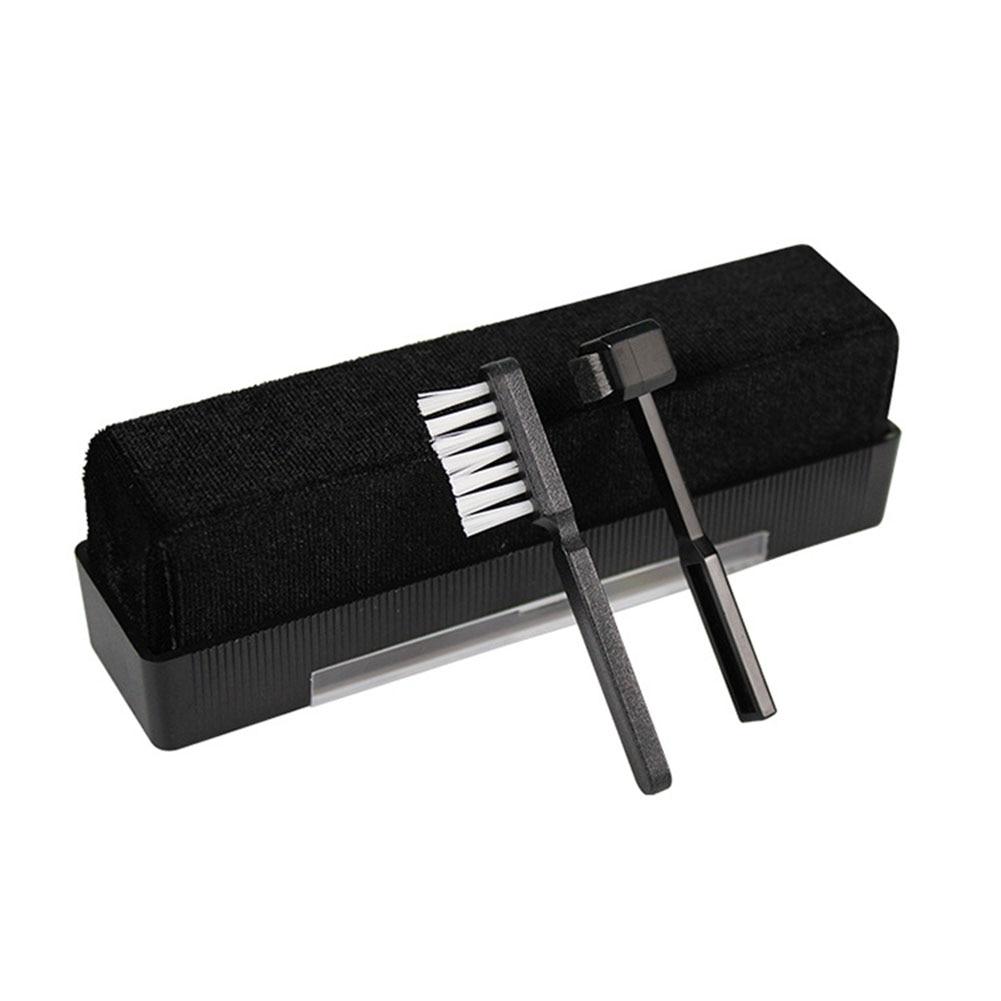 Herramienta giratoria de 3 uds de fibra de carbono para eliminar el polvo, registro de vinilo, juego de cepillo de limpieza estática práctico, Stylus suave portátil para el hogar