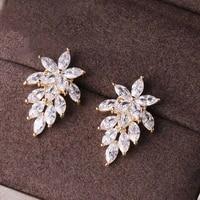s925 sterling silver earring for women dainty sparkling diamond gemstone orecchini fine jewelry kolczyki 925 silver earring