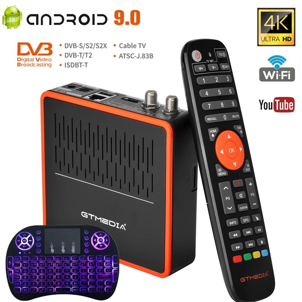 GTMEDIA GT كومبو 8 K HD الذكية أندرويد 9.0 صندوق التلفزيون Amlogic S905X3 DVB-S2/T2/C كابل 2.4G/5G واي فاي BT استقبال الأقمار الصناعية i8 keboard