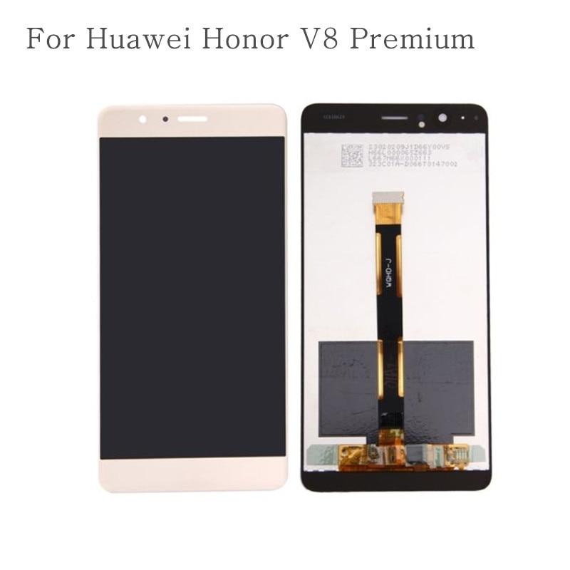 Grado AAA calidad para Huawei Honor V8 Premium TD-LTE KNT-AL20 versión alta pantalla LCD con pantalla táctil digitalizador Asamblea
