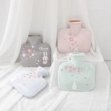 Neue Kreative Platz Plus Größe Weiß Kaninchen Nette Heißer Wasser Flasche Dicke Flanell Set Wasser Bewässerung Mädchen Warme Palast Warm hand