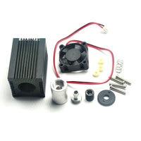 Focusable Aluminium DIY Housing/Case/Heatsink for 405nm 445nm 450nm 5.6mm Blue Laser Diode TO-18 LD Dot Module Fan