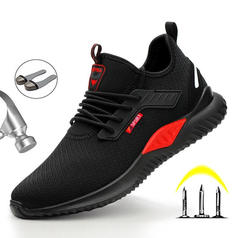 أحذية السلامة للرجال ذات الأصابع الفولاذية ، أحذية العمل غير القابلة للتدمير في الهواء الطلق ، مقاومة للثقب ، لفصل الشتاء