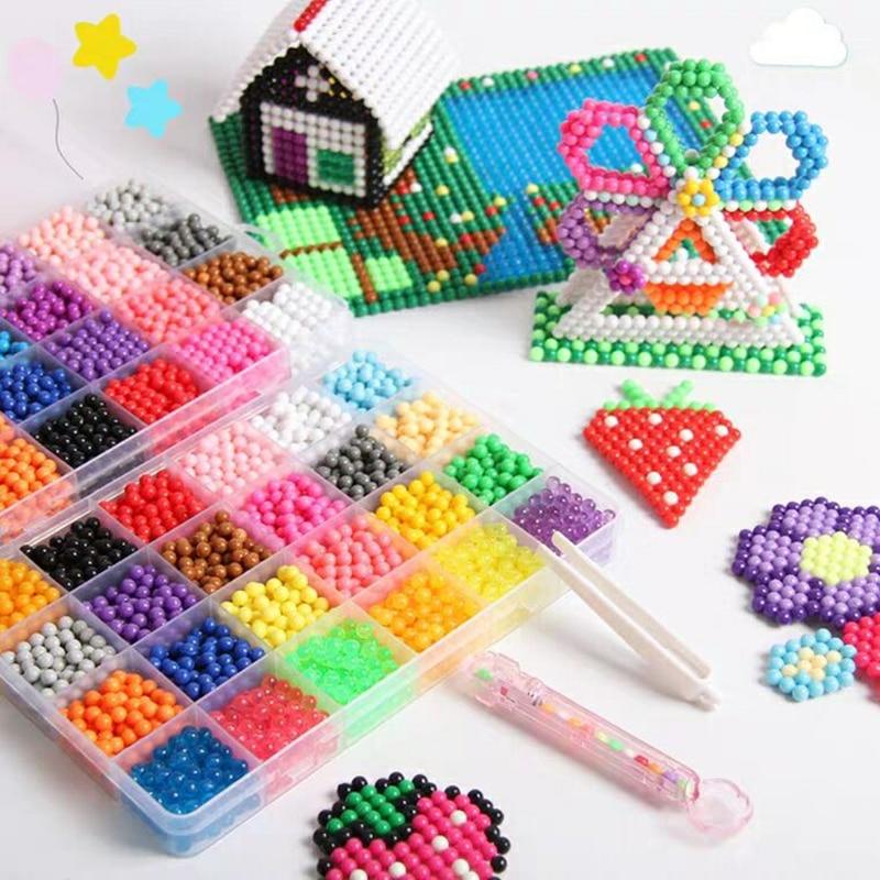 Волшебные игрушки-головоломки, 16000 шт., набор из водяных бусин для мальчиков и девочек, сделай сам, животные, ручная работа, липкие бусины, раз...