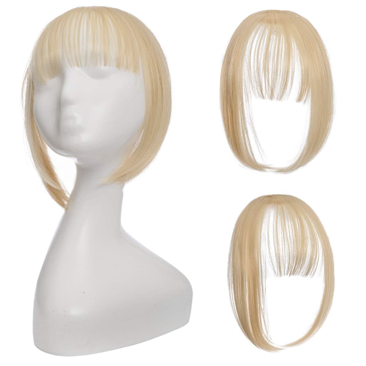 Shangzi Clip In Blunt Bangs Bang Hair Extension Synthetic Wig Fake Fringe Natural Hair Bangs Black L Brown Accessories Fake Hair