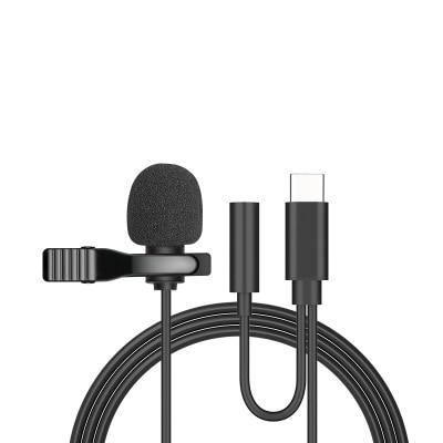 Micrófono portátil tipo C Lavalier, Mini micrófono de solapa para Samsung, Huawei,...