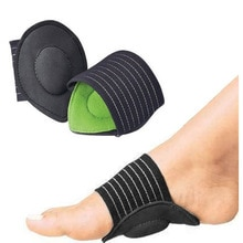 1 Pair Arch Support Foot Cushion Pads Compression Massager for Flat Feet Green Decrease Plantar Fasc