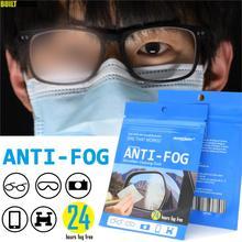 Salviette riutilizzabili per lenti antiappannamento occhiali antiappannamento panno per lenti maschera detergente per auto specchietto retrovisore Defogger Sport occhiali da nuoto casco