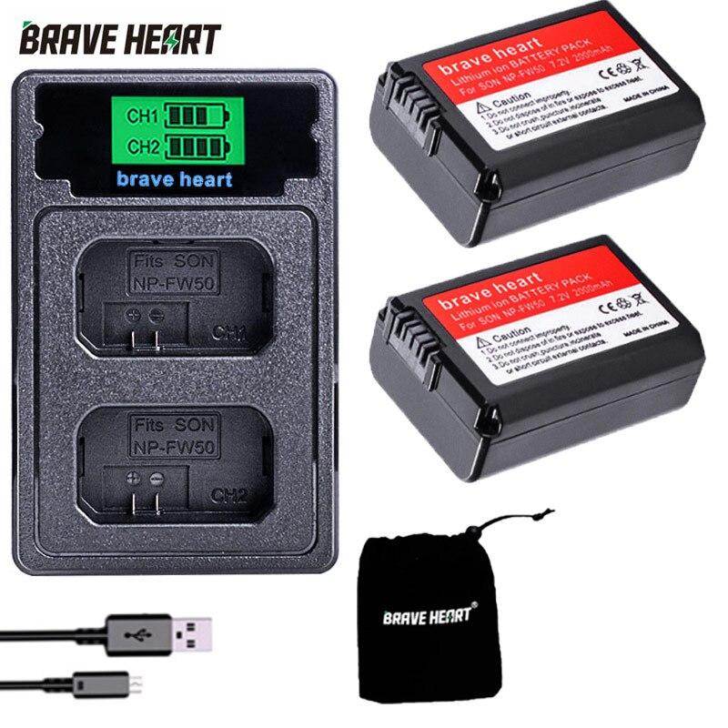 Batería para cámara Sony Alpha a6500 a6300 a6000 a5000 a3000 NP-FW50 a7R,...