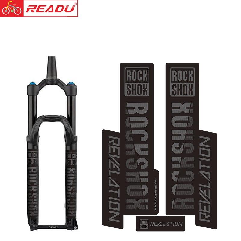 ROCKSHOX Откровение горный велосипед передняя вилка наклейка MTB вилка наклейка Аксессуары для велосипеда